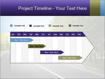 Empty curved road PowerPoint Template - Slide 25