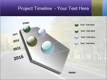 Empty curved road PowerPoint Template - Slide 26