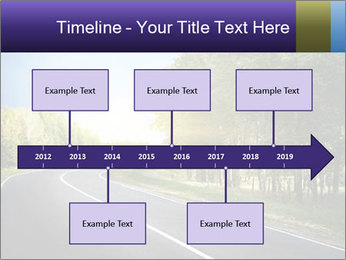 Empty curved road PowerPoint Template - Slide 28