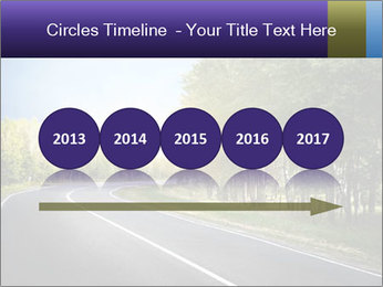 Empty curved road PowerPoint Template - Slide 29