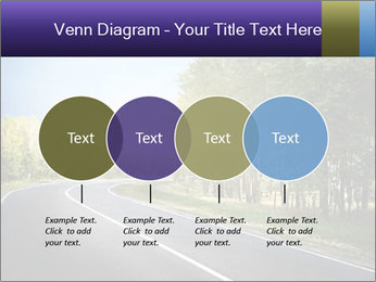 Empty curved road PowerPoint Template - Slide 32
