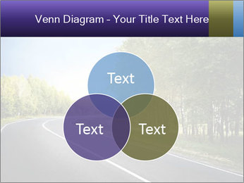 Empty curved road PowerPoint Template - Slide 33