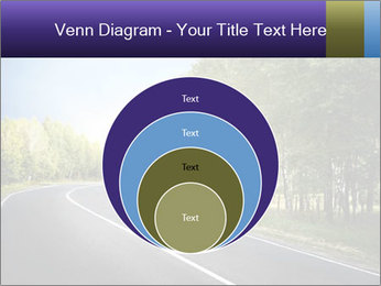 Empty curved road PowerPoint Template - Slide 34