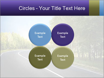 Empty curved road PowerPoint Template - Slide 38