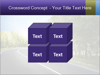Empty curved road PowerPoint Template - Slide 39