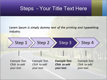 Empty curved road PowerPoint Template - Slide 4
