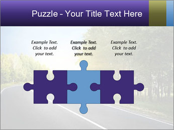 Empty curved road PowerPoint Template - Slide 42