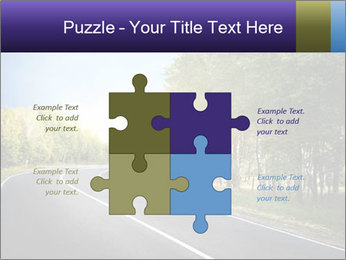 Empty curved road PowerPoint Template - Slide 43
