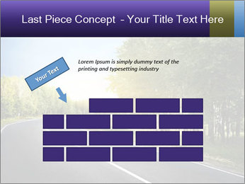 Empty curved road PowerPoint Template - Slide 46