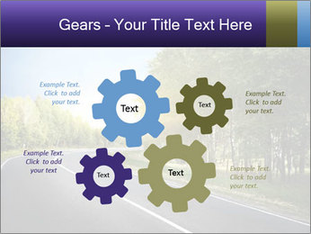 Empty curved road PowerPoint Template - Slide 47