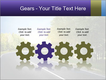 Empty curved road PowerPoint Template - Slide 48