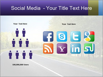 Empty curved road PowerPoint Template - Slide 5