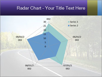 Empty curved road PowerPoint Template - Slide 51