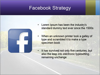 Empty curved road PowerPoint Template - Slide 6