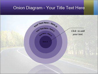 Empty curved road PowerPoint Template - Slide 61