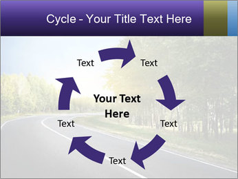 Empty curved road PowerPoint Template - Slide 62