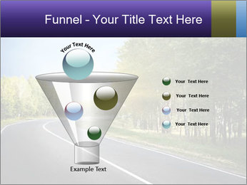 Empty curved road PowerPoint Template - Slide 63