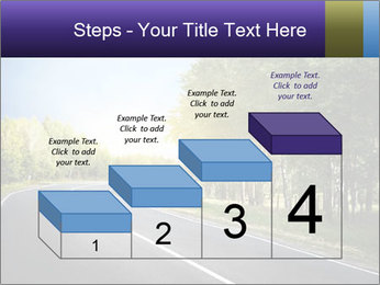 Empty curved road PowerPoint Template - Slide 64