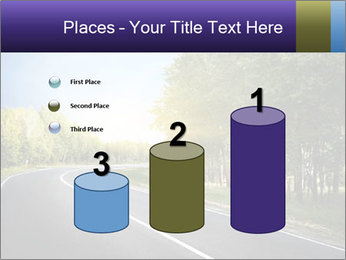 Empty curved road PowerPoint Template - Slide 65