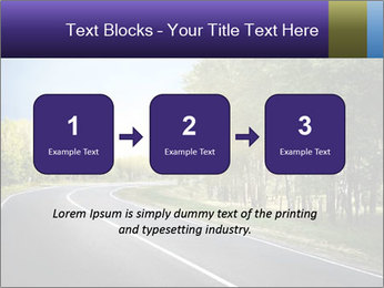 Empty curved road PowerPoint Template - Slide 71