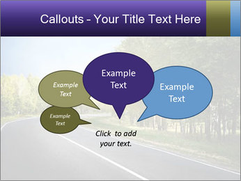 Empty curved road PowerPoint Template - Slide 73