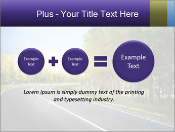 Empty curved road PowerPoint Template - Slide 75