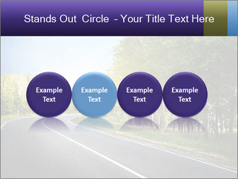 Empty curved road PowerPoint Template - Slide 76