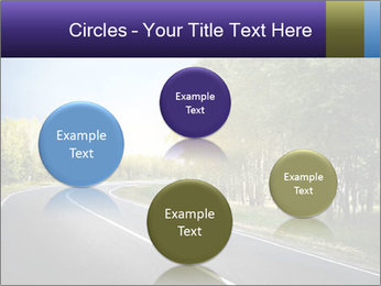 Empty curved road PowerPoint Template - Slide 77