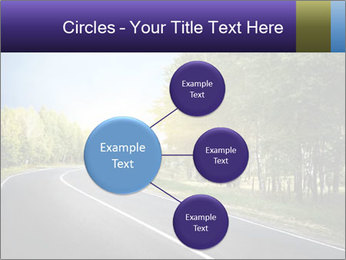 Empty curved road PowerPoint Template - Slide 79