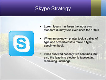 Empty curved road PowerPoint Template - Slide 8