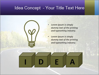 Empty curved road PowerPoint Template - Slide 80