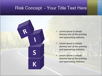 Empty curved road PowerPoint Template - Slide 81