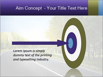 Empty curved road PowerPoint Template - Slide 83