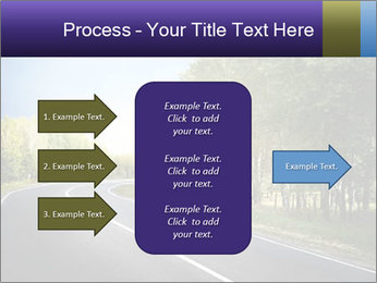 Empty curved road PowerPoint Template - Slide 85