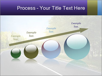 Empty curved road PowerPoint Template - Slide 87