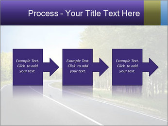 Empty curved road PowerPoint Template - Slide 88