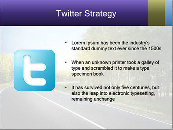 Empty curved road PowerPoint Template - Slide 9