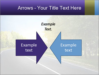 Empty curved road PowerPoint Template - Slide 90