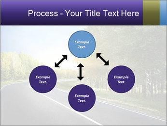 Empty curved road PowerPoint Template - Slide 91