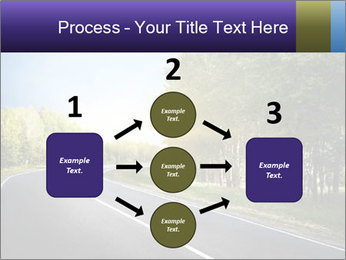 Empty curved road PowerPoint Template - Slide 92