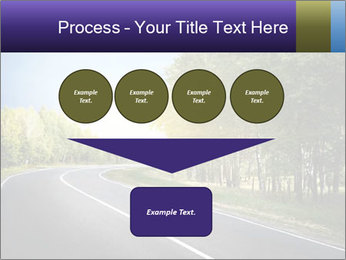 Empty curved road PowerPoint Template - Slide 93