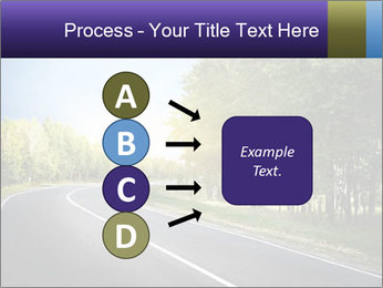 Empty curved road PowerPoint Template - Slide 94