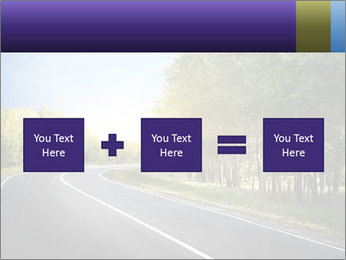 Empty curved road PowerPoint Template - Slide 95