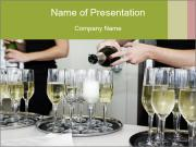 Champagne at a party PowerPoint Templates