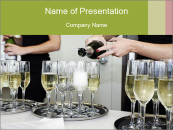 Champagne at a party PowerPoint Template - Slide 1