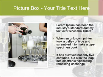 Champagne at a party PowerPoint Template - Slide 13