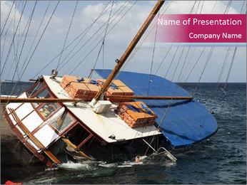 A schooner listing PowerPoint Template - Slide 1