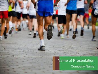 People running PowerPoint Template - Slide 1