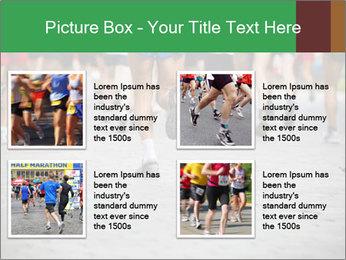 People running PowerPoint Template - Slide 14