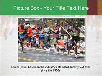 People running PowerPoint Template - Slide 15